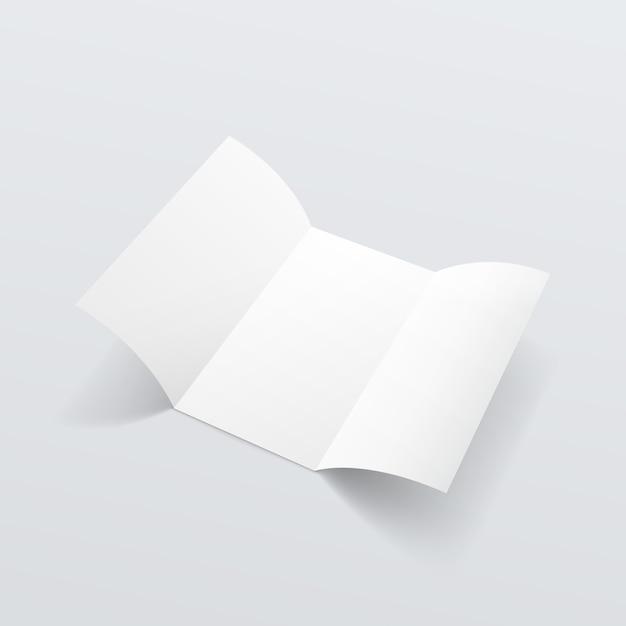 Брошюра в виде белой брошюры Premium векторы