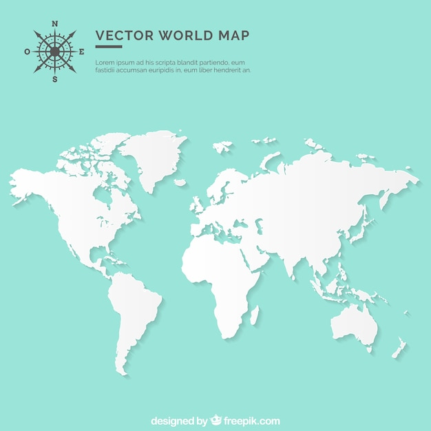 Blank world map vector free download blank world map free vector gumiabroncs Choice Image