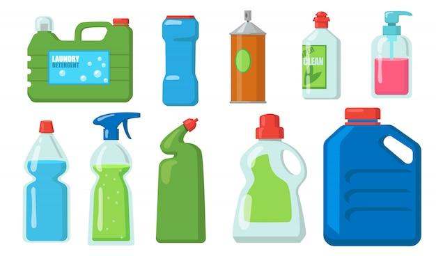 Bleach bottles set Free Vector