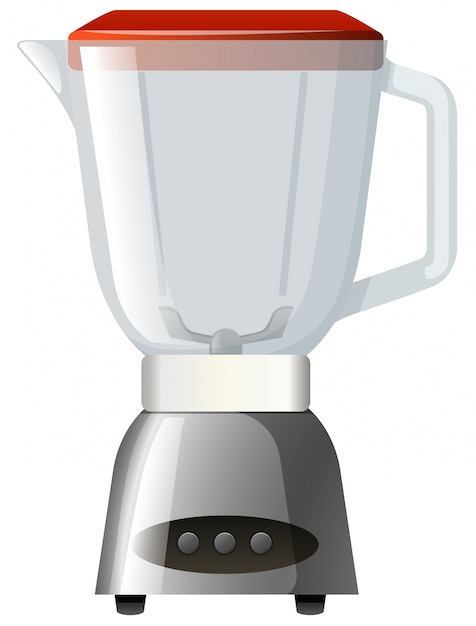 Blender with red lid Free Vector