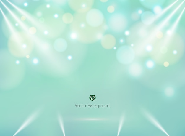 blending green mint color background with colorful circle bokeh