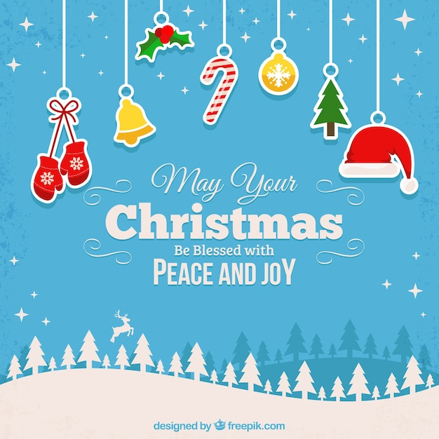 Blessed christmas background Vector | Free Download
