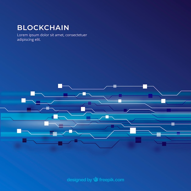 Blockchain background Free Vector