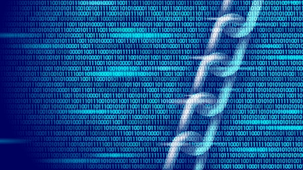 Концепция бизнес-символа blockchain. цепное соединение, сеть финансов, информационная безопасность. . глобальная электронная коммерция в интернете Premium векторы