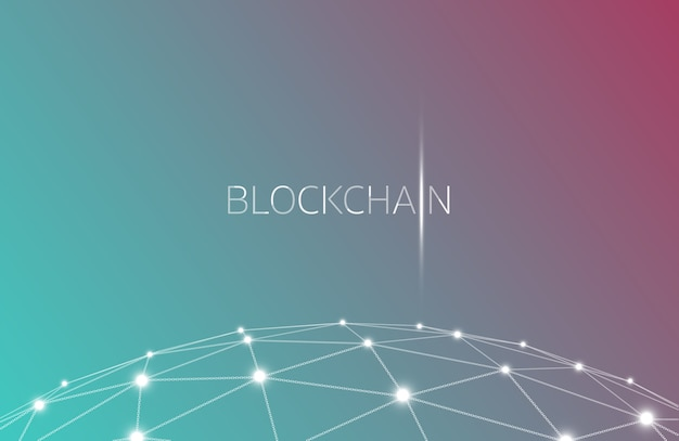 Blockchain concept, blockchain technology. ico (initial coin offering) , crypto currency t Premium Vector
