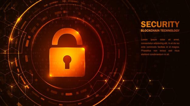 Blockchain technology cryptocurrency Premium Vector