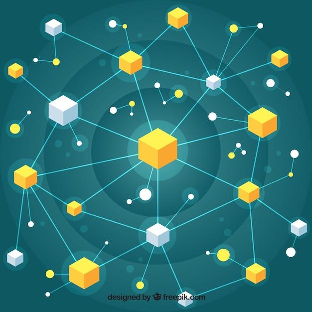 Концепция концепции blockchain Бесплатные векторы