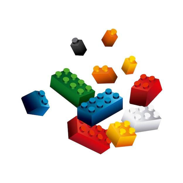 Blocks to build design Premium Vector