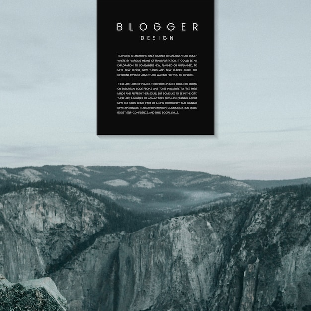 Blog welcome page template design vector Free Vector