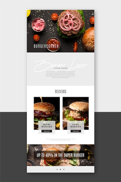 Blogger communication email template Free Vector