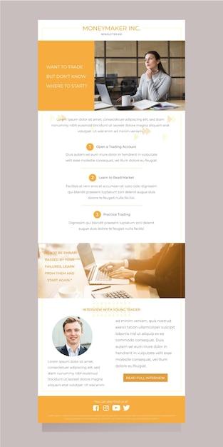 Blogger email template Premium Vector
