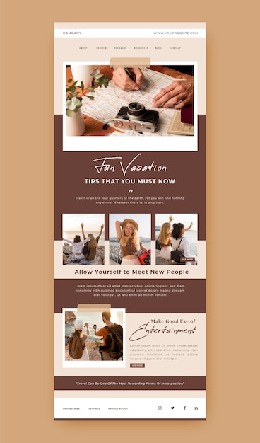 Blogger email template Free Vector