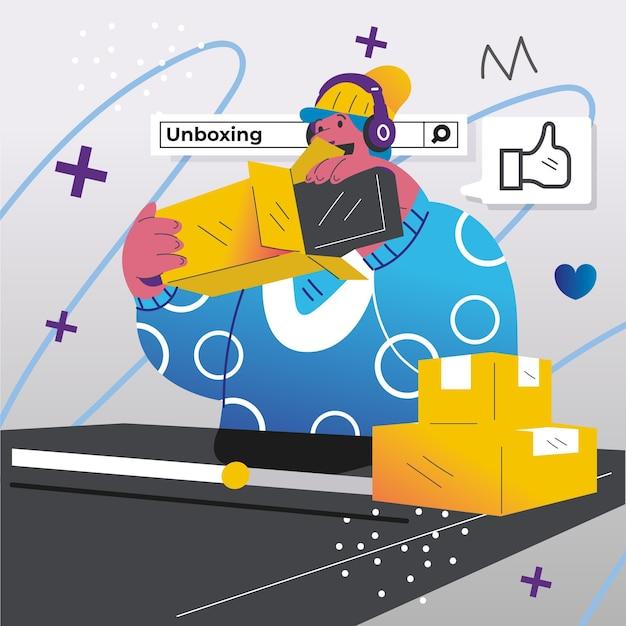Концепция обзора blogger Бесплатные векторы
