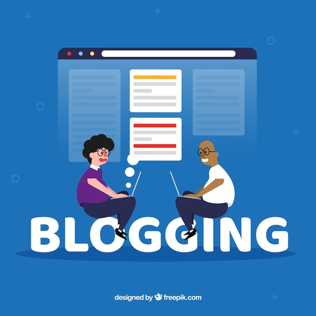 Blogging word concept Free Vector