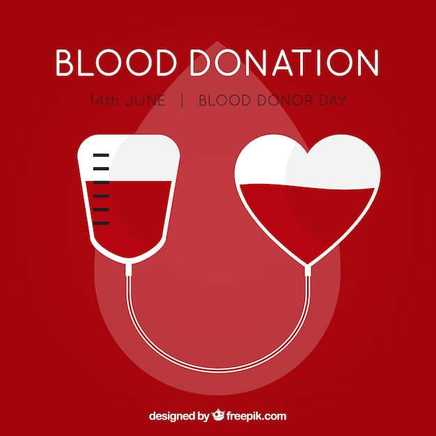 Blood bag background for donor day Premium Vector