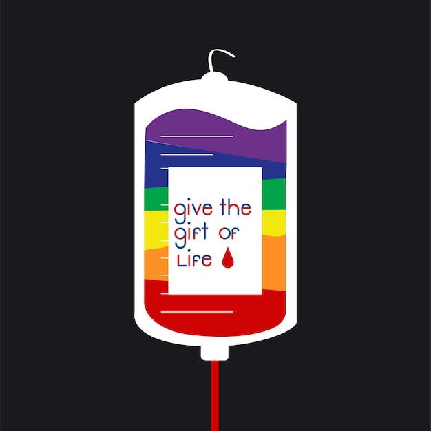 Blood donation bag vector illustration Free Vector