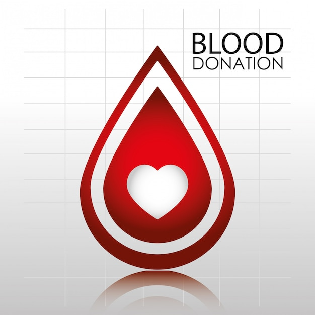 Blood donation logo template Free Vector