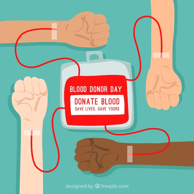 Blood donor background Free Vector