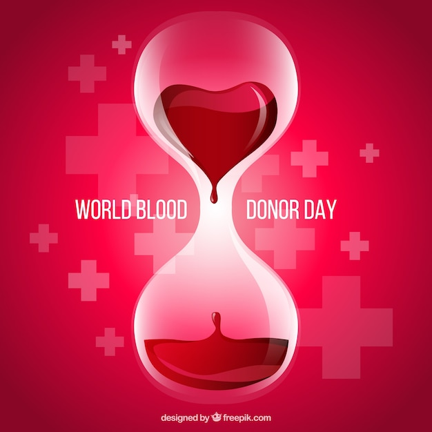 Blood donor day background Premium Vector