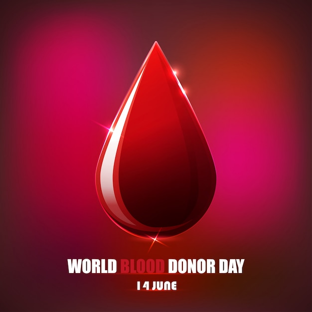 Blood donor day Premium Vector