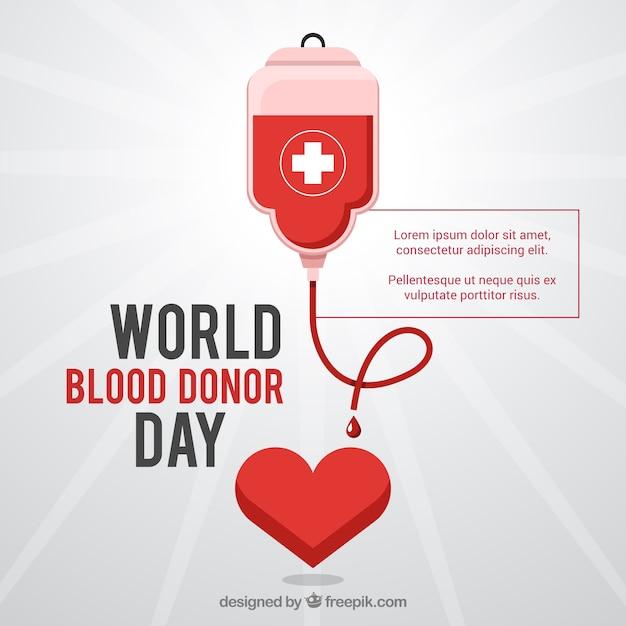Blood donor world day background Premium Vector