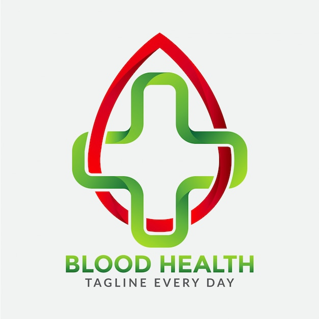 Blood health care logo Premium Vector