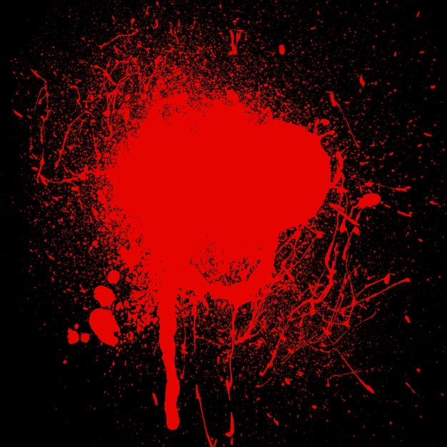 Blood splatter Free Vector