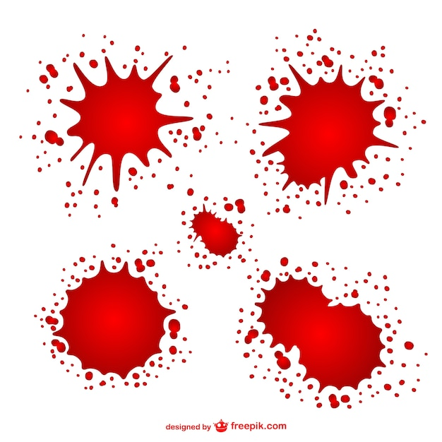 Blood stains set Free Vector