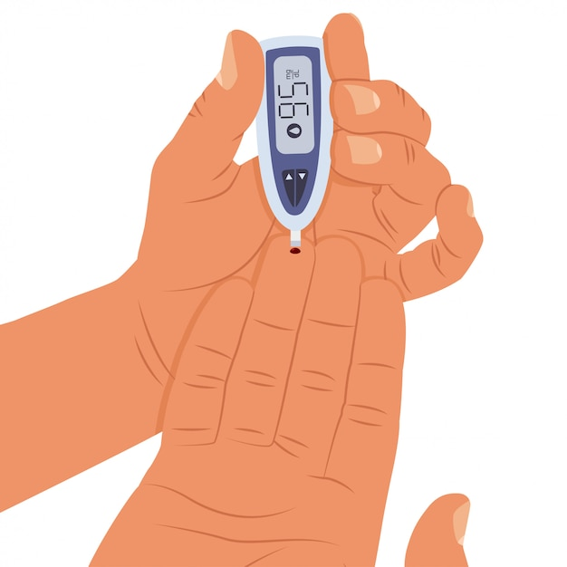 Blood sugar level test Premium Vector