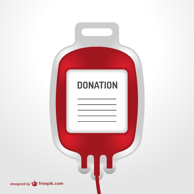 Blood transfusion bag Free Vector