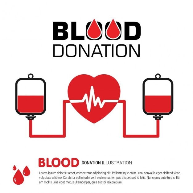 Blood transfusion process background Free Vector