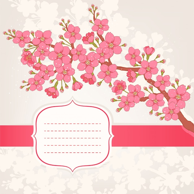 Blooming apple tree Premium Vector