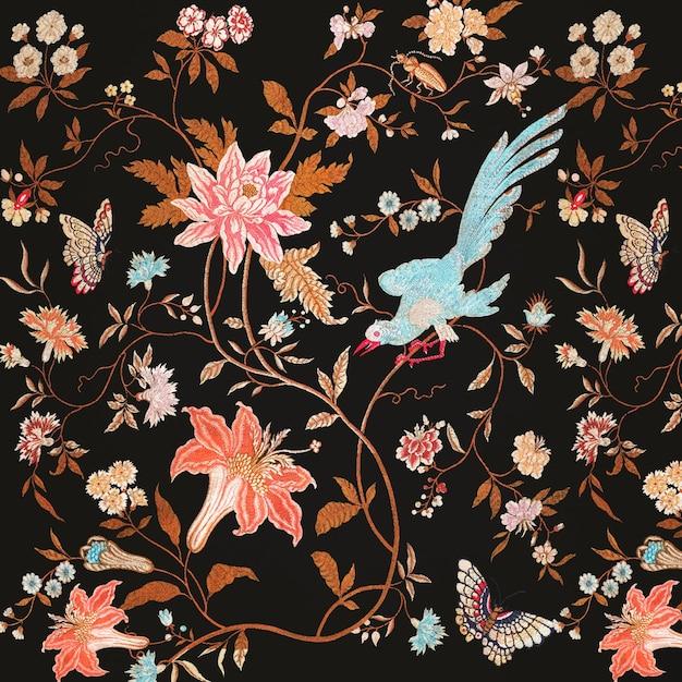 Цветущие цветы шаблон Бесплатные векторы
