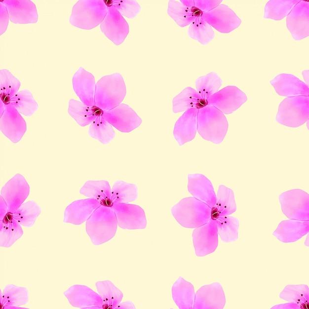 Blosson flower seamless pattern spring pink Premium Vector