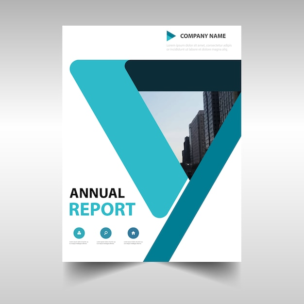 Blue abstract annual report template Vector – Free Annual Report Templates
