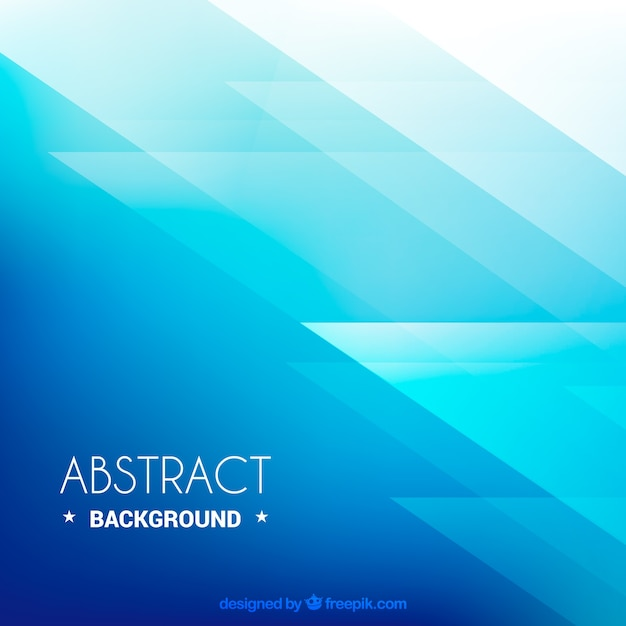 Blue abstract background, geometric shapes