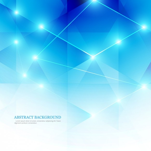 Blue abstract background in low poly style Free Vector