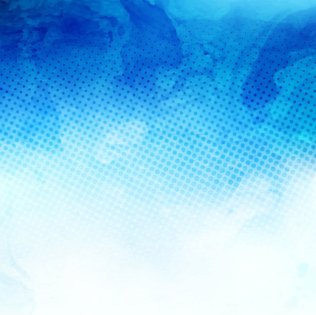 Blue abstract background, watercolor stains texture