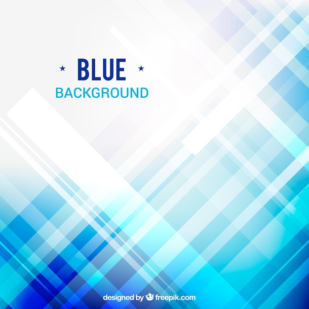 Blue abstract background with lights