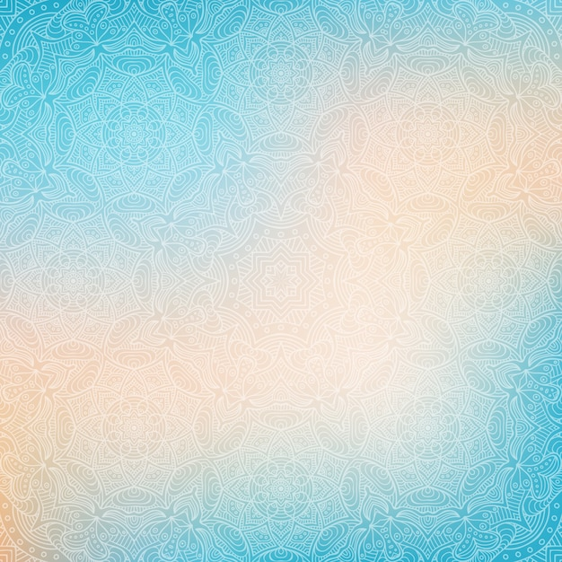 Blue abstract background with mandalas