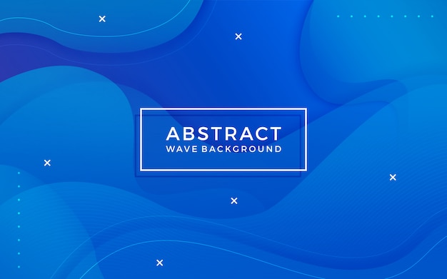 Blue abstract background with memphis elements. Premium Vector