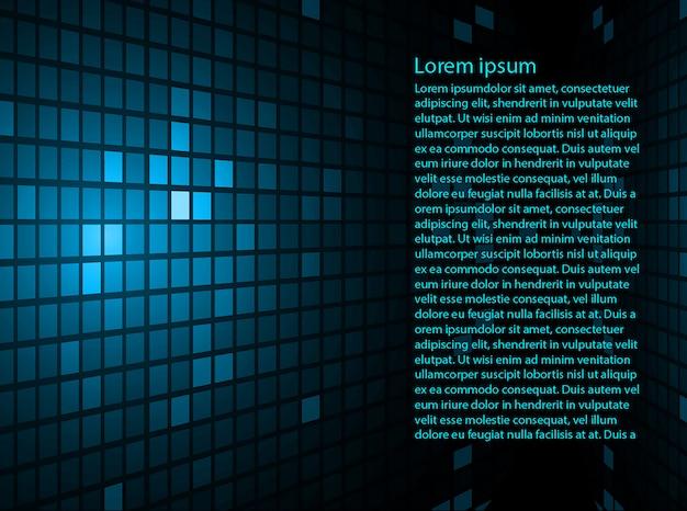 テキストテンプレートと青の抽象的な背景 Premiumベクター