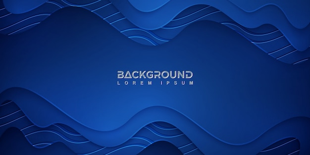 Blue abstract background with a wavy texture Premium Vector