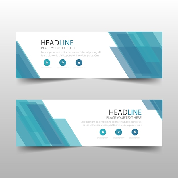 Blue abstract banner template design vector free download blue abstract banner template design free vector pronofoot35fo Choice Image