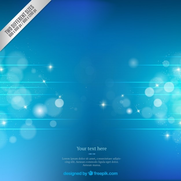Blue abstract bokeh background Free Vector