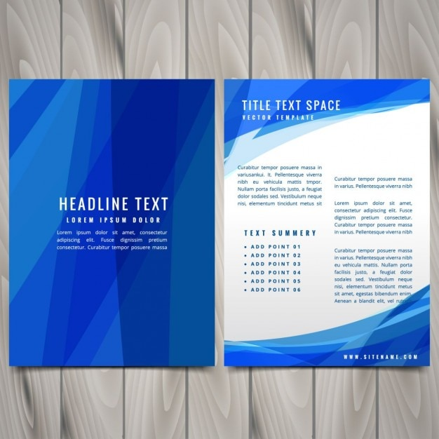 Blue abstract brochure flyer design illustration Vector | Free ...
