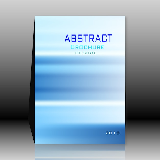 Blue abstract brochure Free Vector