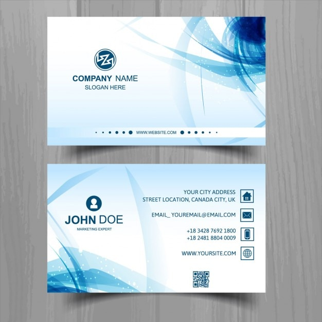 Blue abstract business card vector free download for Business card without address