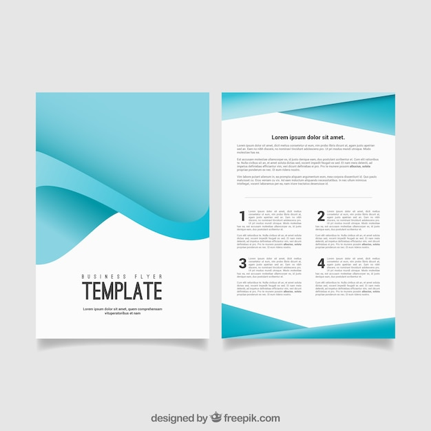 blue abstract business flyer vector free download