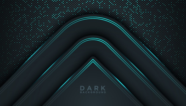 Blue Abstract Dimension Black Background Vector Premium